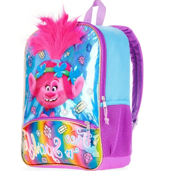 ad8f4e53b45 Accessories   New Princess Poppy Trolls Backpack With Hair   Poshmark